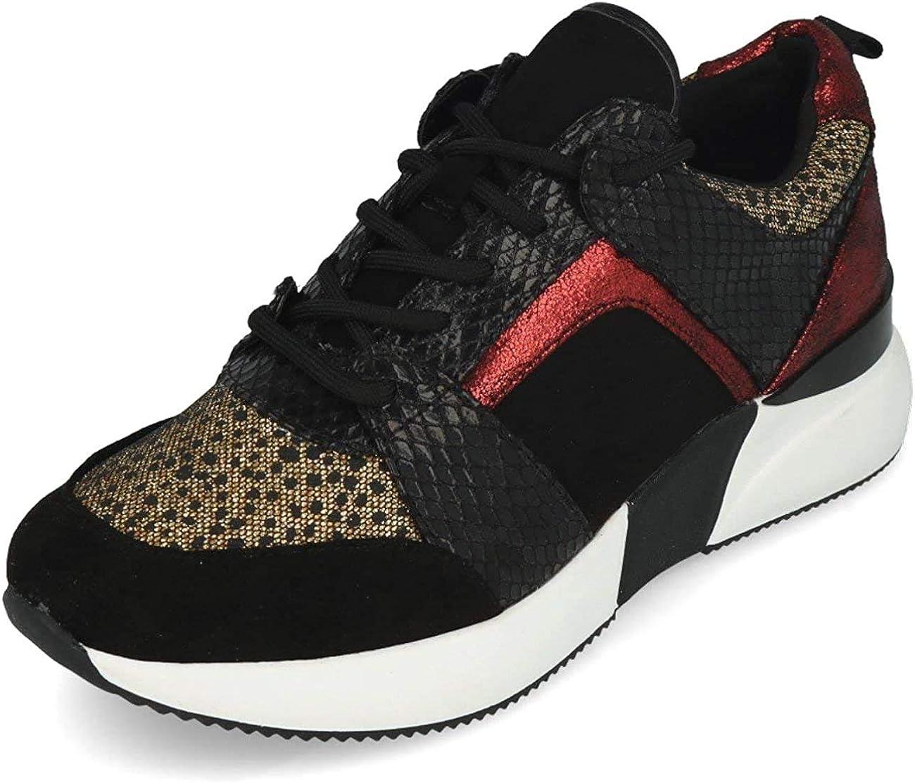 La Strada 1807433 Sneaker Cheetah Glitter Multi Noir