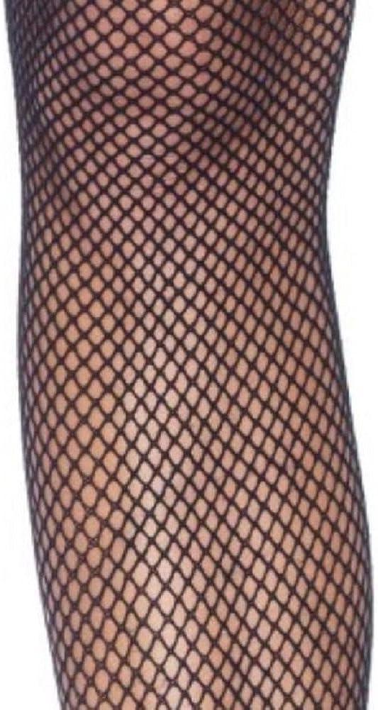 Leg Avenue Damen Halterlose Netzstr/ümpfe Nylon Schwarz mit rosa Schleifen Einheitsgr/ö/ße 36 bis 40