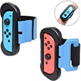 Fyoung Wrist Dance Band for Nintendo Switch Joy Cons Controller Game Just Dance 2019, Adjustable Elastic Strap for Joy-Cons, 2 Pack (Fit for 4.72-7.5 inches Wrist)