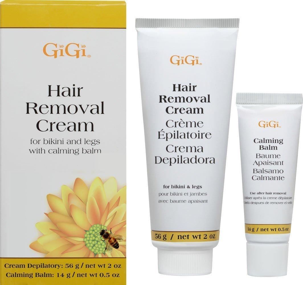 GiGi Hair Removal Cream with Calming Balm for Legs and Bikini Area