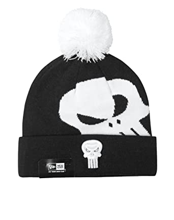 New Era Punisher Over Logo Knit Hat  Amazon.co.uk  Clothing 35f92b2fcb2