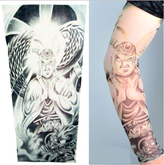 KIRALOVE Manicotto Tattoo Mezza Manica Tigre e Samurai Manica Immagine W107 Tatoo Tribale Idea Regalo Originale Tatuaggio Finto