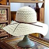 AMEA Lace hollow shade hat cotton, beach hat, female summer folding sun sun hat