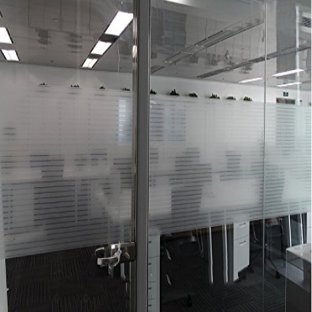 Amazon Aingoo 2D Weiß Streifen Fensterfolie Milchglasfolie