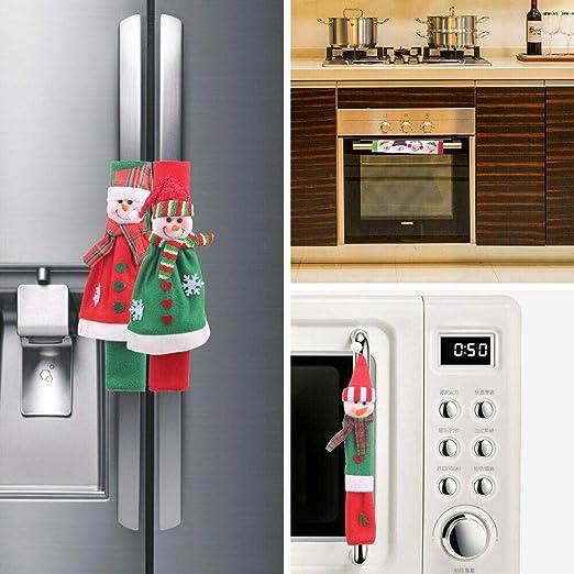 Happt Navidad Microondas Cajón Cartoon Fleece Snowman Refrigerator ...