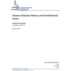 Fairness Doctrine: History and Constitutional Issues