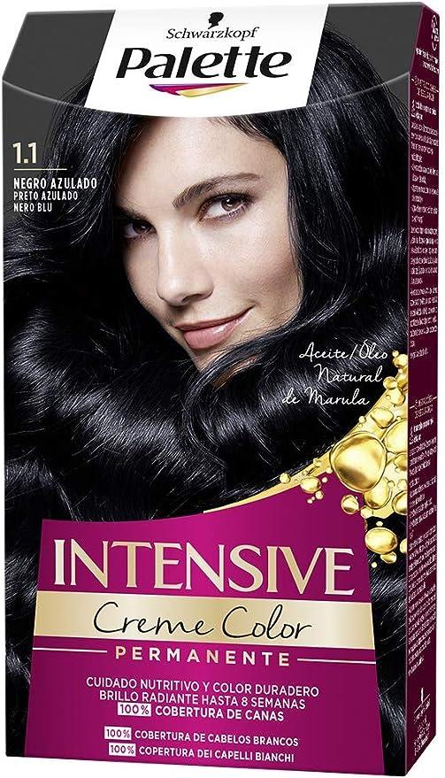 Schwarzkopf Palette Intensive Creme Color - Tono 1.1 cabello ...