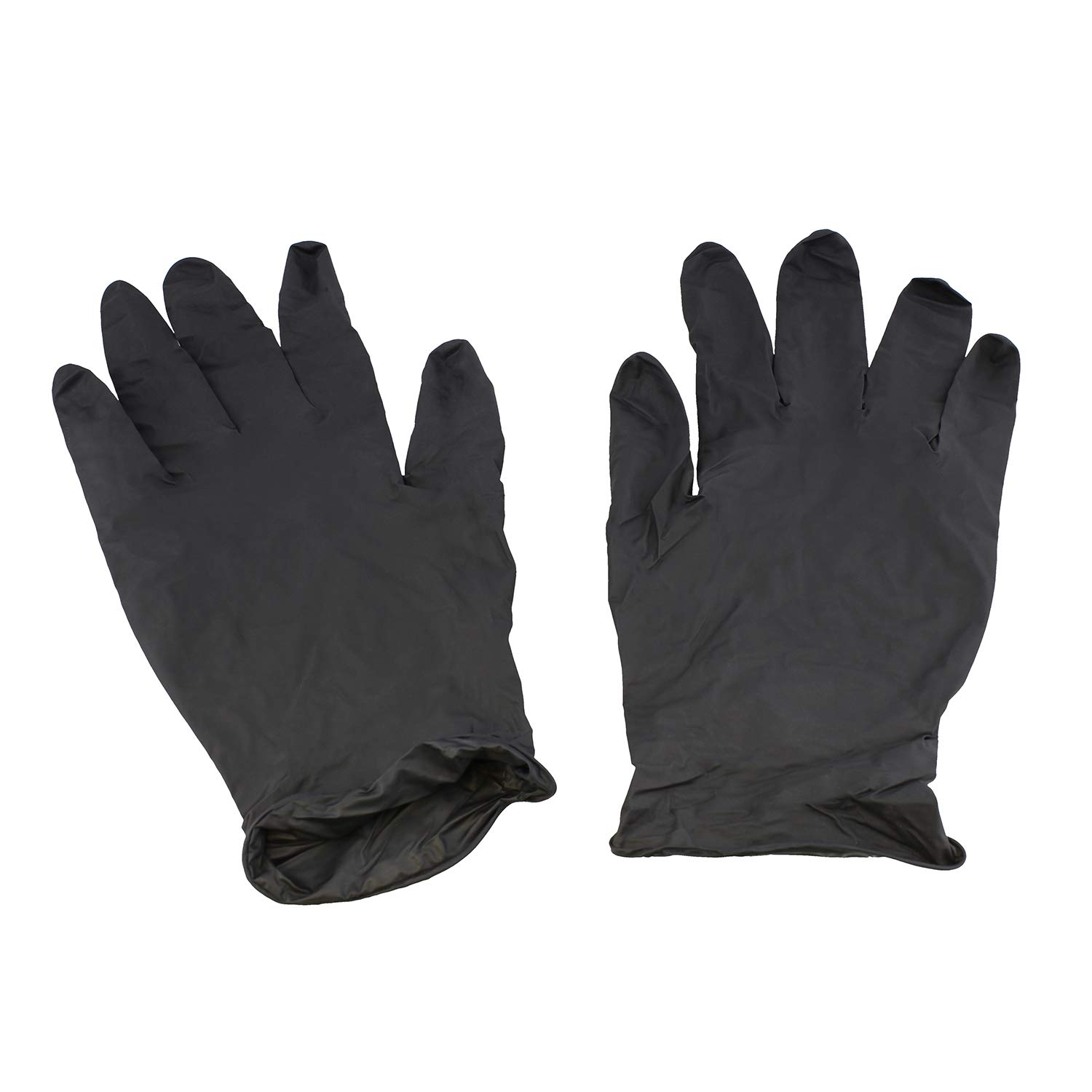 Showa Best 6112PF Eco Best Technology Biodegradable Industrial Grade Nitrile Glove, Disposable, Powder-Free, 4 mil Thickness, MEDIUM, Black (Pack of 100)