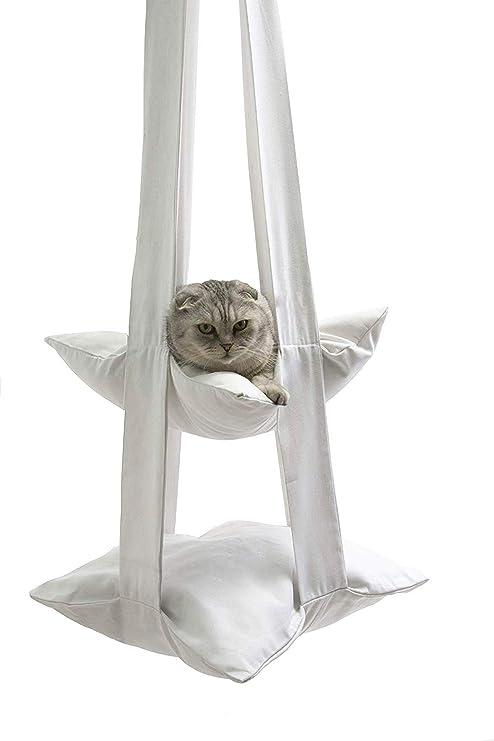 Amazon.com: Hamaca moderna para gato, diseño de gato con ...