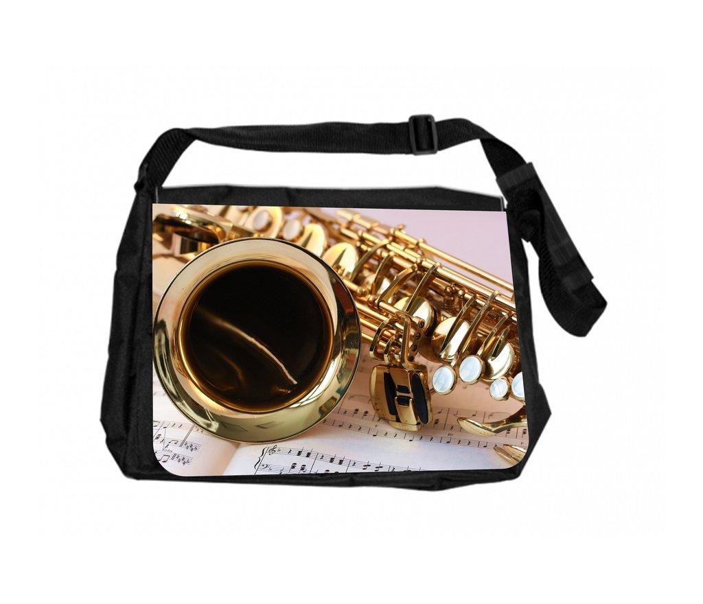 TM School Messenger Bag and Pencil Case Set Saxophone And Music Notes Rosie Parker Inc