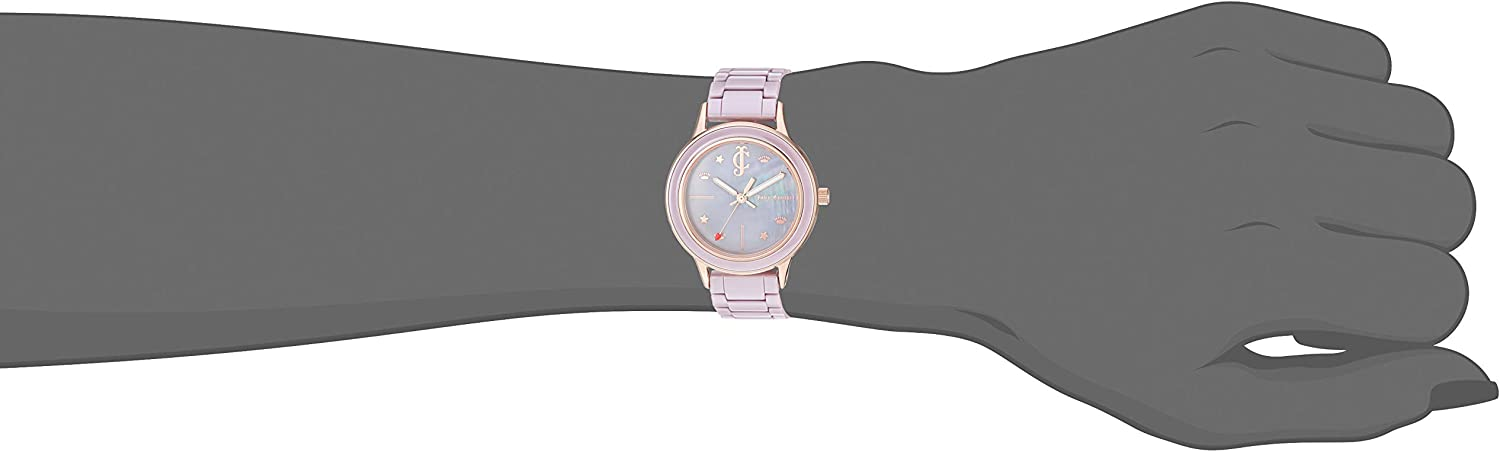 Juicy Couture Black Label Women's  Ceramic Bracelet Watch Taupe/Rose Gold