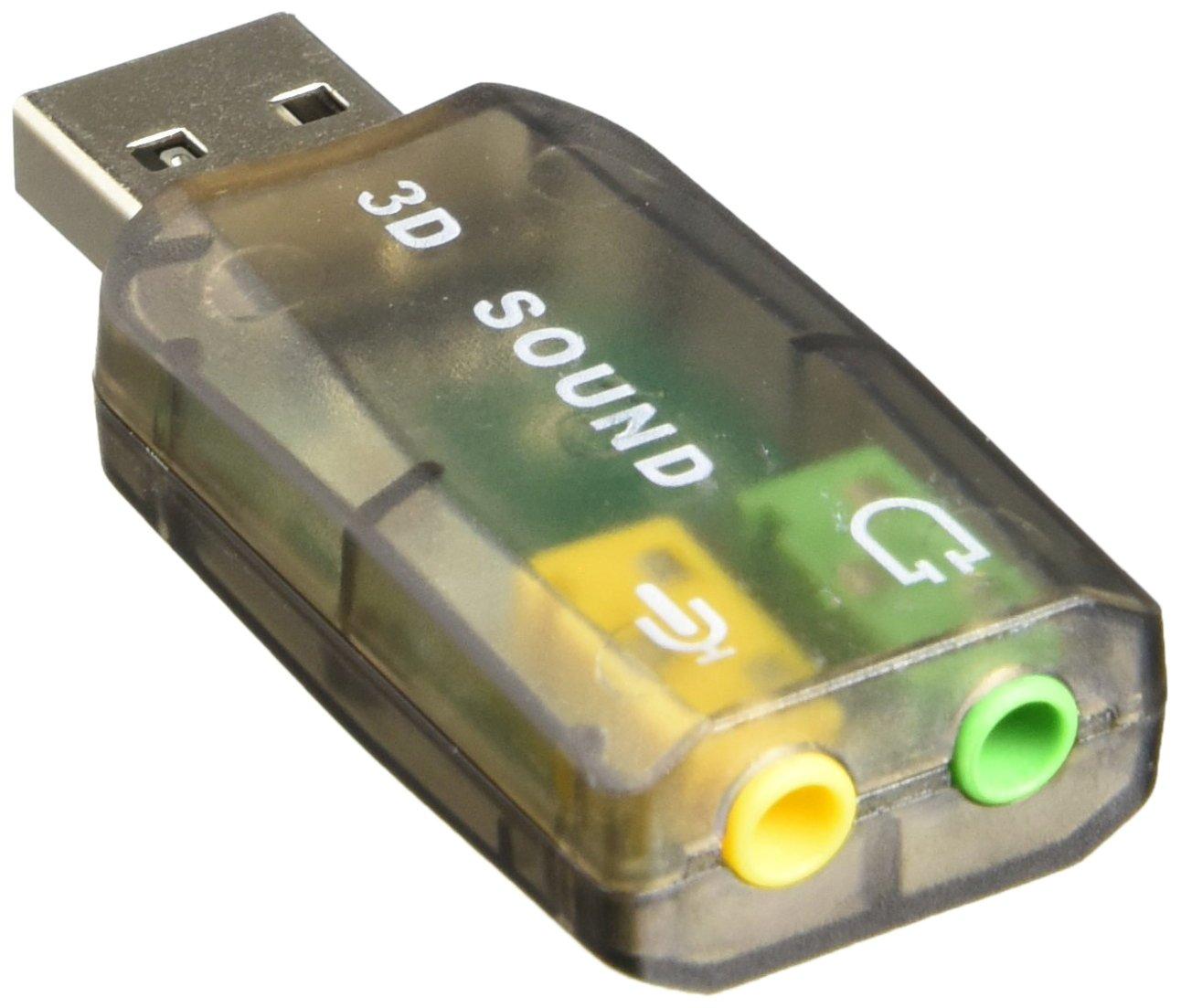 Amazon.com: Tarjeta de sonido USB externo para portátil para ...