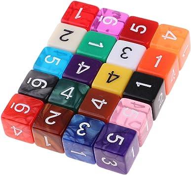 Hellery Juego de Mesa para Fiestas de 6 Piezas D6 de 6 Caras con Números: Amazon.es: Juguetes y juegos