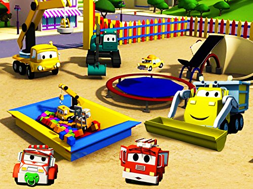 Construction-Squad-builds-a-Trampoline-and-a-Car-Wash-for-the-babies