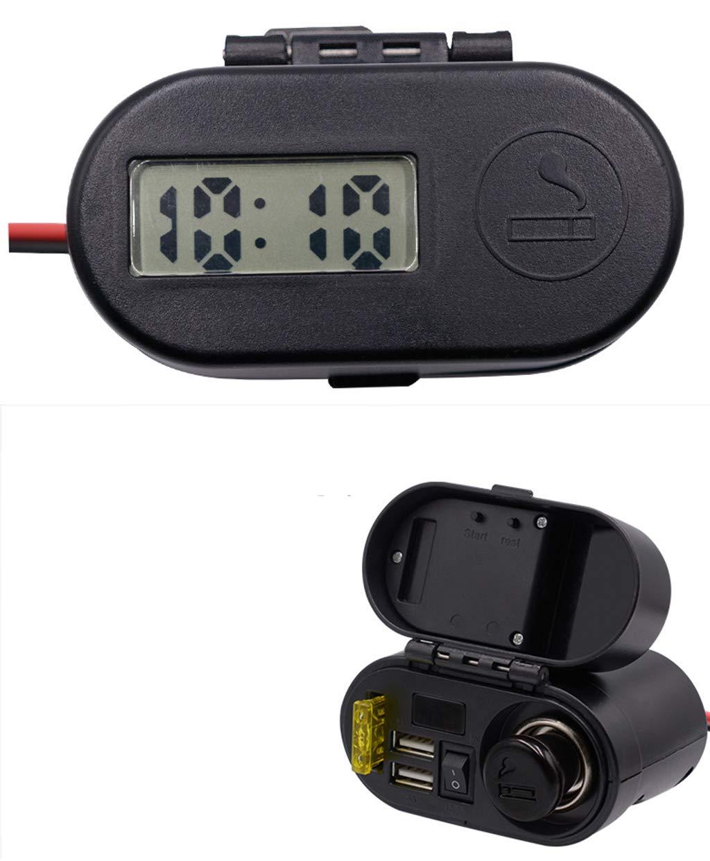 ... 24V con Puerto USB Doble Adaptador De Teléfono Móvil para Barco De Yate RV Apertura Dual para iPhone iPad, Samsung, GPS, Dashcam, Detector De Radar: ...