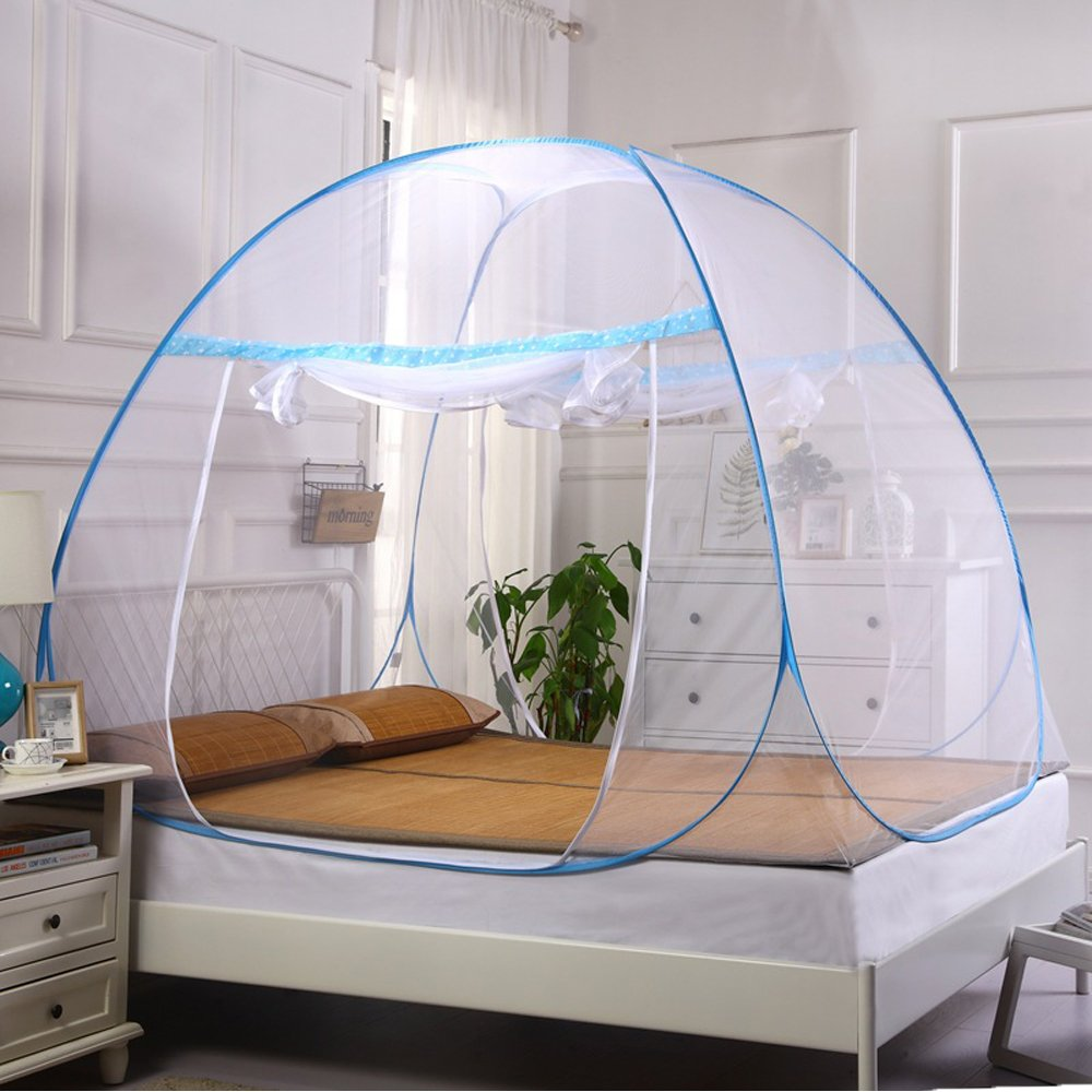 Portable Folding Pop-Up Anti Mosquito Net Tent Mosquito Nettings Canopy Curtains for Baby Toddlers Kids Adult Beds Home