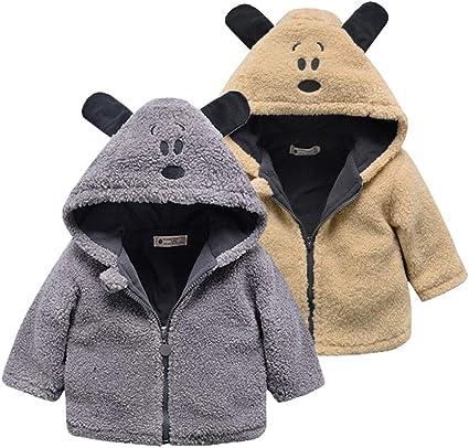 AIKSSOO Boys Winter Outdoor Outwear Thick Fleece Hooded Full-Zip Parka Jacket Coat