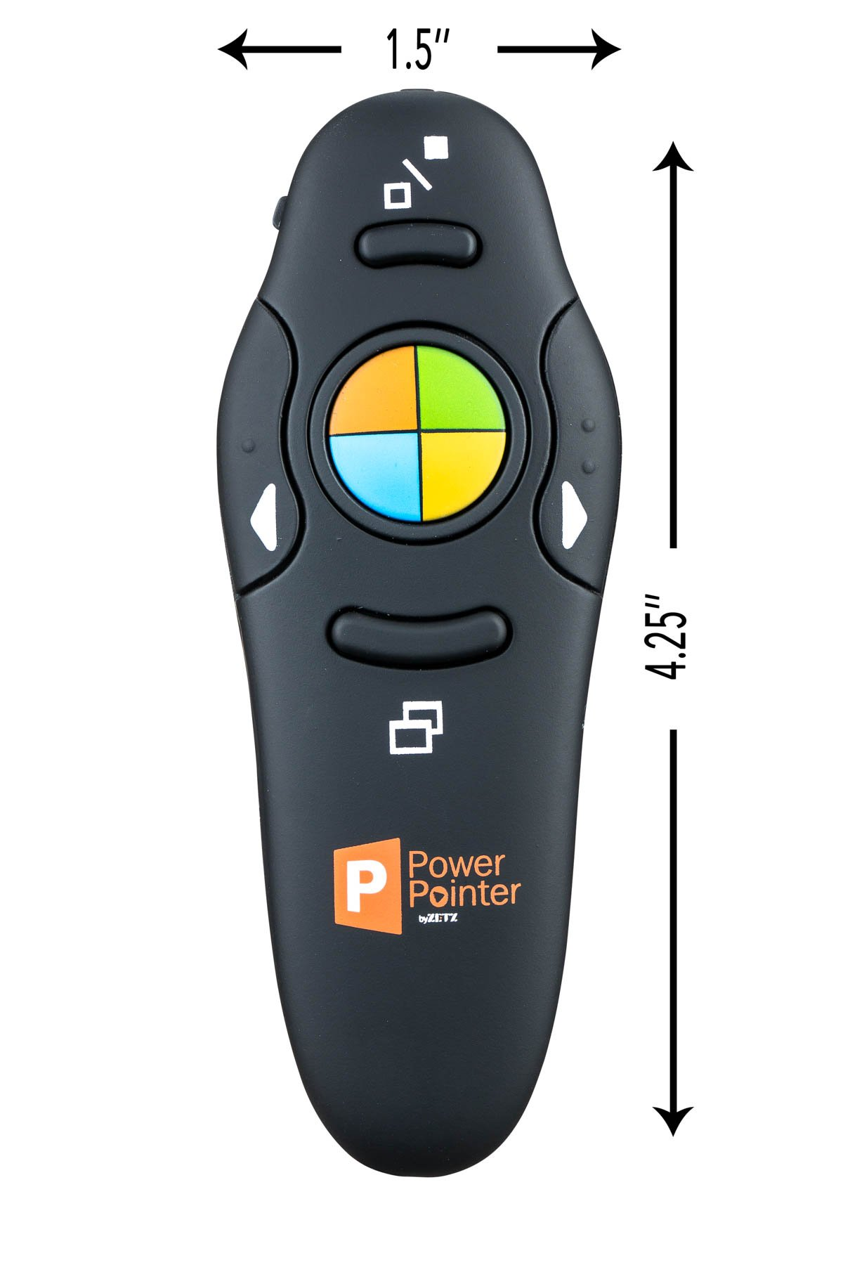 ZETZ Wireless Presenter Remote Control With USB & Laser Pointer | Powerful & Ergonomic PPT Clicker Easy To Use | For Microsoft Power Point Presentations, Excel & Interaction With Crowd by Zetz (Image #5)