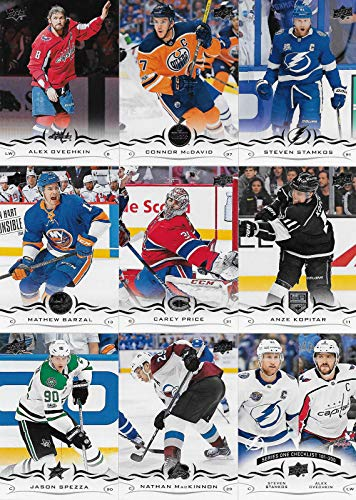 2018 2019 Upper Deck NHL Hockey Series One Complete Mint Basic Hand Collated 200 Card Veteran Players Set Including Connor McDavid and Alex Ovechkin Plus Many Others