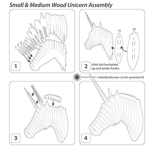 Amazon Cardboard Safari Unicorn Taxidermy 3d Art Puzzle