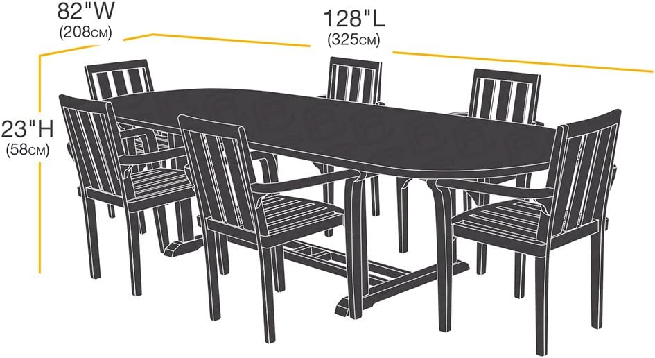 Telo protettivo rettangolare//ovale per tavolo e sedie da esterni misura L Basics