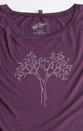 Life-Tree Ropa Justa bambú Camiseta Mujer Reduced de bambú y ...