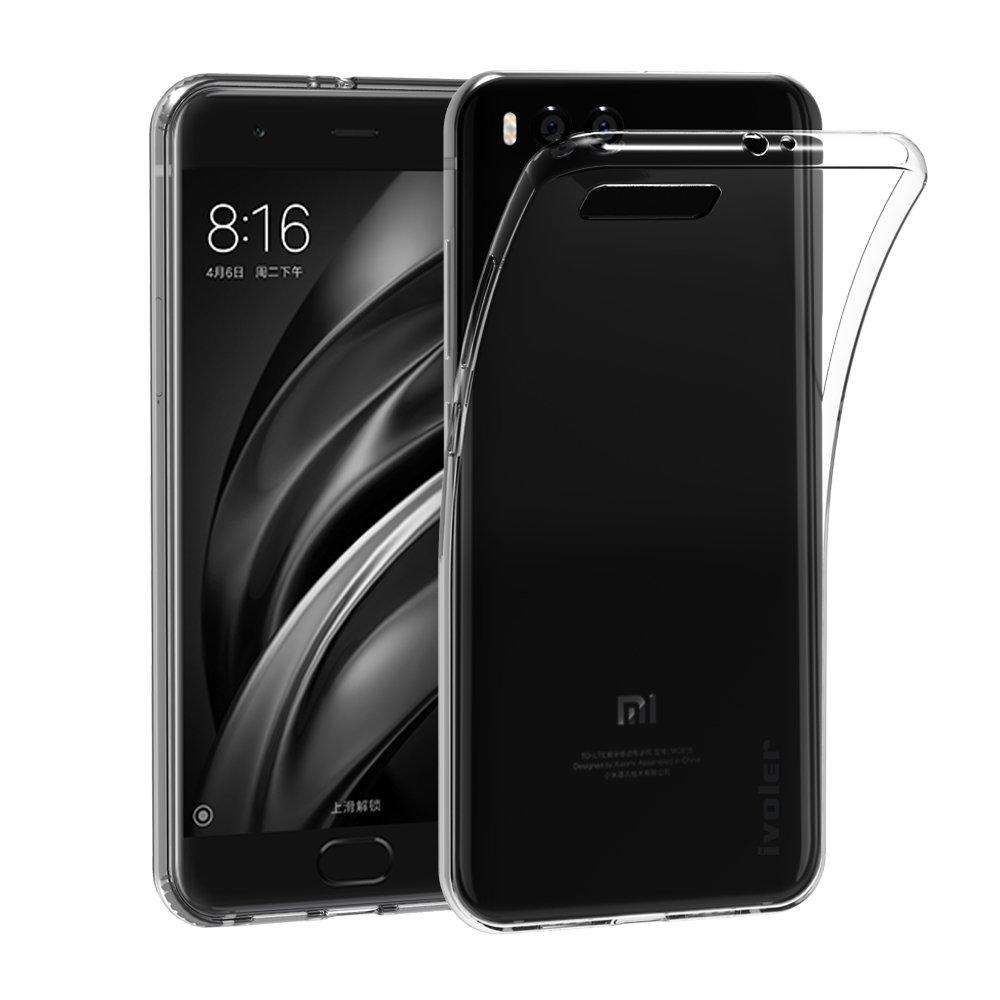 Xiaomi Mi 6 Cover Case, iVoler Xiaomi Mi 6 Silicone TPU Soft Crystal Case Clear Anti Slip Case Back Cover Protector Anti-shock for Xiaomi Mi 6 (Crystal Clear) - 18 Months Warranty