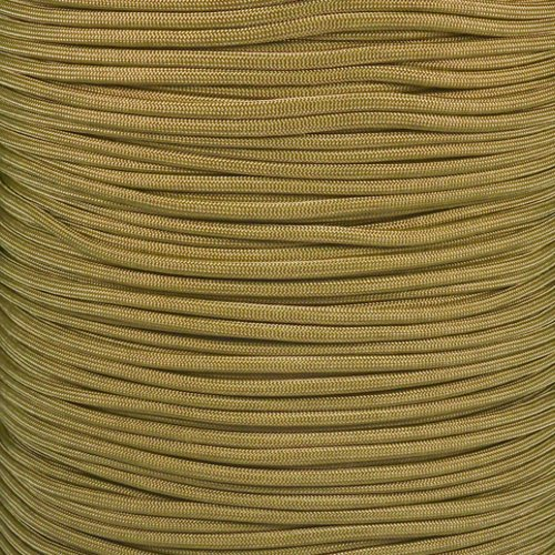Paracord Planet 550 Cord Type III 7 Strand Paracord 100 Foot Hank - Gold