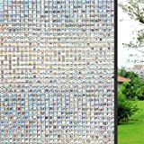 Amazon Price History for:WPT 3D Decorative Self-Adhesive Window Film Privacy Static Cling Vinly Window Film for Reuseable Film For Heat Control Sun Blocking Mosaic Stained Glasses Home Office 17.7x78.7 Inches