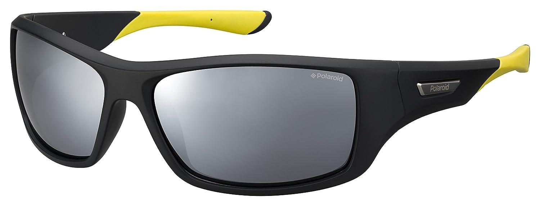Polaroid PLD 7013/S Ex gafas de sol, Negro (Black Yellow/Greyslv Fl Pz), 63 para Hombre