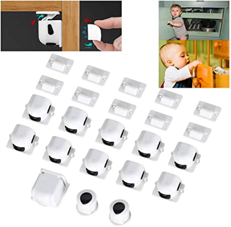 10PCS  Baby Kids Safety Child Proofing Magnetic Cabinet Drawer Cupboard Locks