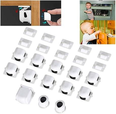 Baby Safety Magnetic Cabinet Lock Set 10pcs Magnetic Locks /& 2pcs Magnetic Keys