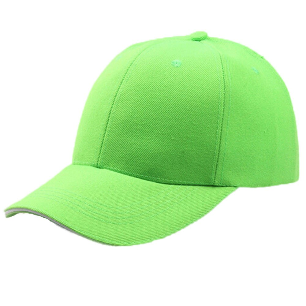 UOFOCO Women Baseball Cap Snapback Hat Hip-Hop Adjustable Green