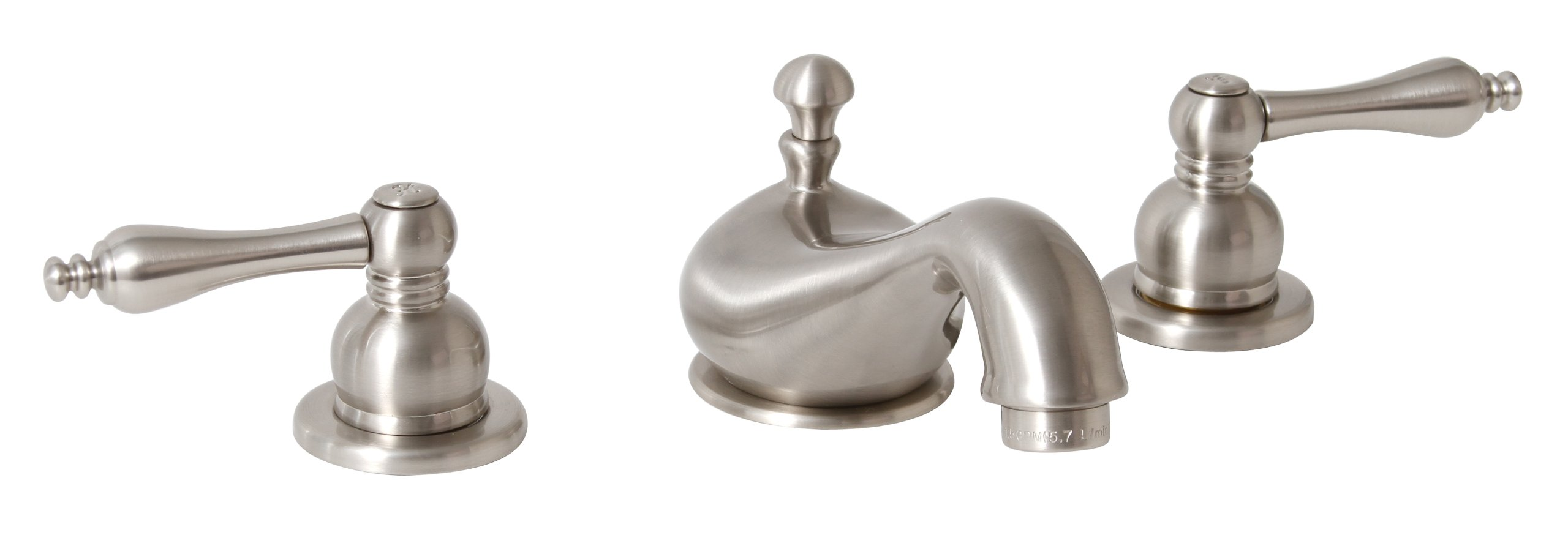 Premier 120586LF Wellington Lead-Free Widespread Two-Handle Lavatory Faucet, Brushed Nickel