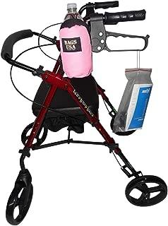 product image for Beverage Holder for Rollator,Walker,Fully Padded Holds 16 fl oz Bottle or 12 oz can Made in USA. (Pink)