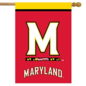 Maryland Terrapins House Flag College Licensed 28