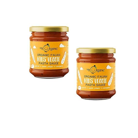 Mr Organic Salsa de Pasta Para Niños Zanahoria Sin Azúcar 200g Pack de 2