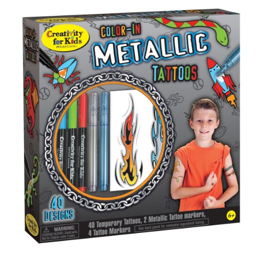 Creativity for Kids Color-In Metallic (Boy Tattoo Kit)