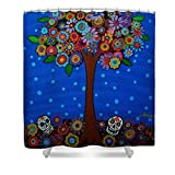 Pixels Shower Curtain (74'' x 71'') ''Day Of The Dead''