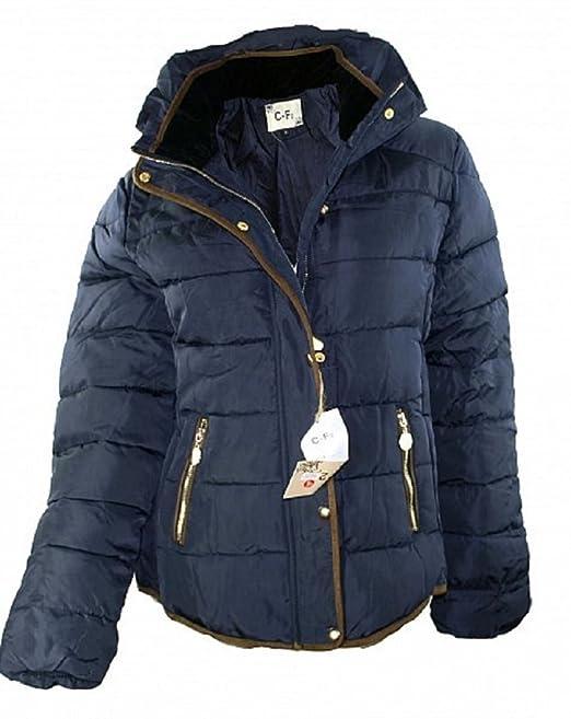 939 Damen Designer Jacke Stepp Blau Beige Schwarz 34 36 38