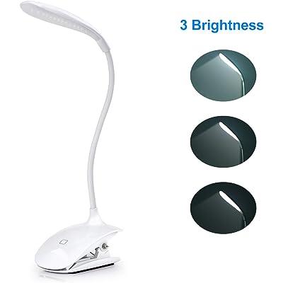 Adoric LED- Lámpara Escritorio con Panel Táctil Lámpara de Lectura Lámpara de Mesa 3 Niveles de Brillo USB Placentera para Los Ojos
