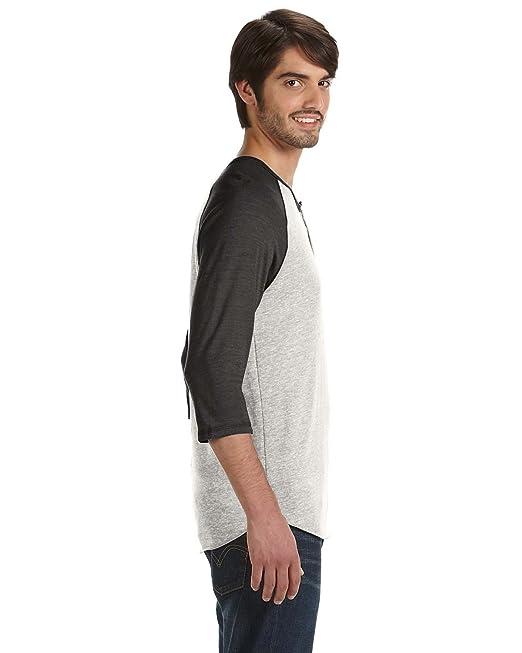 0901fd9e Alternative Men's Raglan 3/4 Sleeve Henley Shirt: Amazon.ca: Clothing &  Accessories