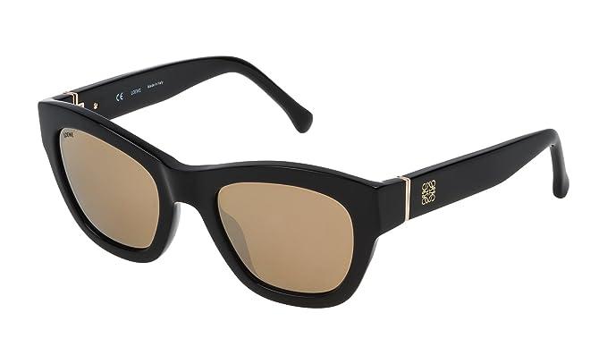 Loewe SLW969M51700G Gafas de Sol, Shiny Black, 51 para Mujer ...