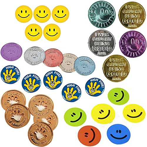 30-piece-appreciation-coins-for-kids-15-stickers-10-buttons-5-positive-incentives