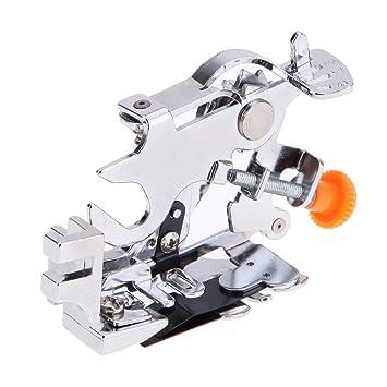 1 pcs Pie de Máquina de Plisar Multifuncional para Hogar Costura,Prensatelas fruncidor para máquina de coser doméstica,Prensatelas de Ruffler universal: ...
