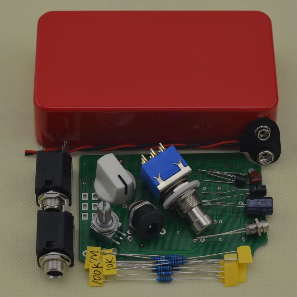 TTONE DIY Boost Guitar Effects Pedals with 1590B Red Case by TTONE