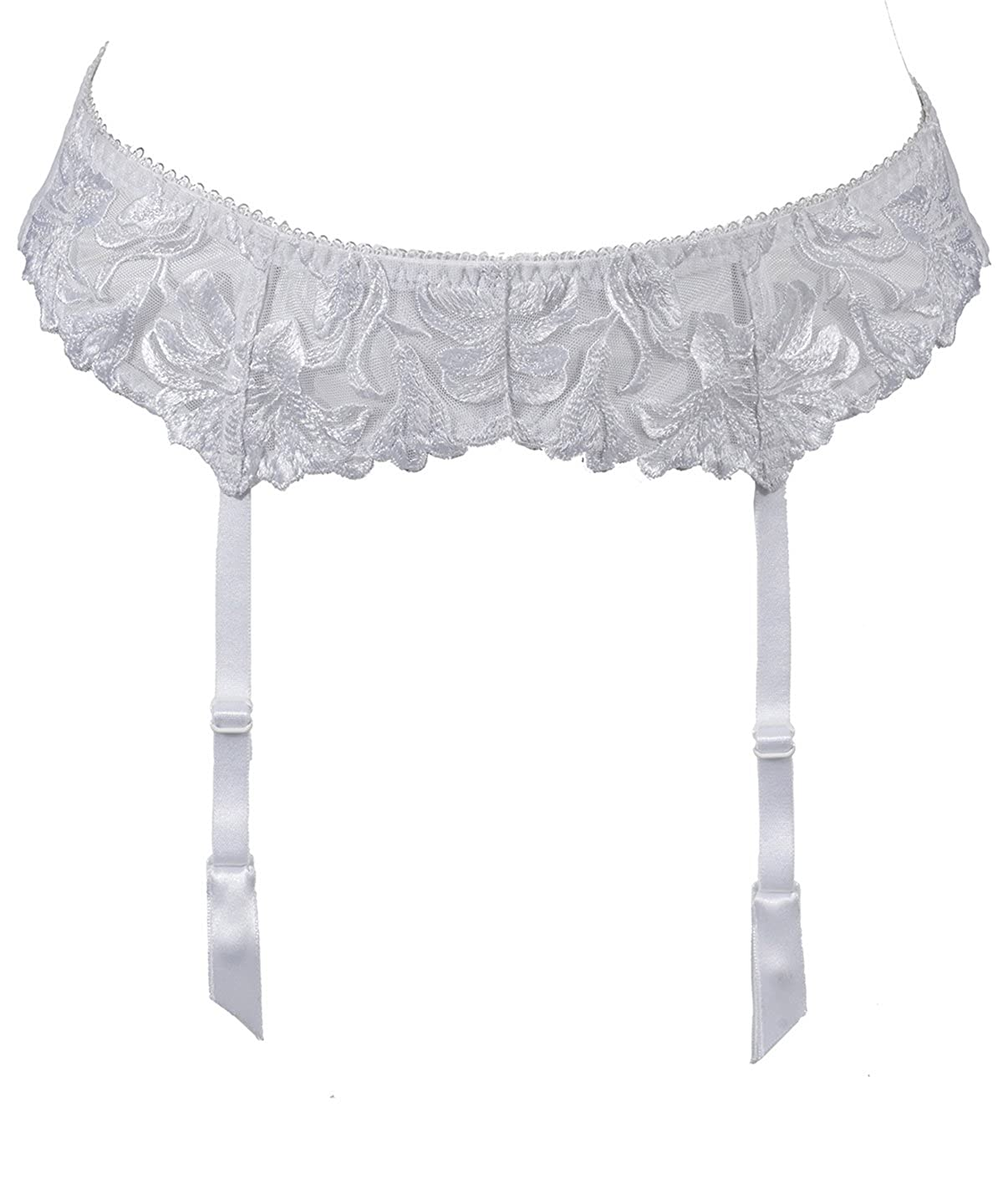 fresh styles temperament shoes excellent quality Aubade Garden Of Delights Garters - White - UK 10: Amazon.co ...