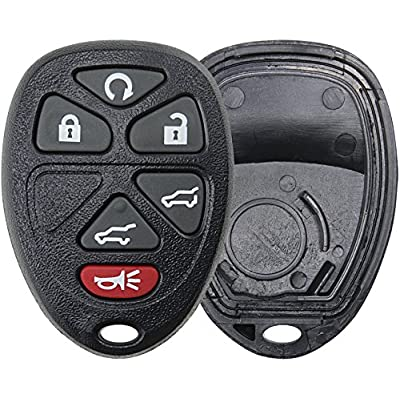 KeylessOption Replacement 6 Button Keyless Entry Remote Key Fob Shell Case and Button Pad for OUC60270: Automotive