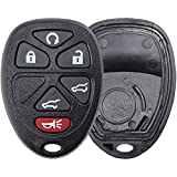 KeylessOption Replacement 6 Button Keyless Entry Remote Key Fob Shell Case and Button Pad Compatible with OUC60270