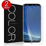 G-Color Galaxy S8 Protection écran [2 Pièces],[Sans Erreur,Sans Bulle][Coque Compatible][Couverture Parfaite] [Liquide Installation], Souple TPU film Protection écran pour Samsung Galaxy S8